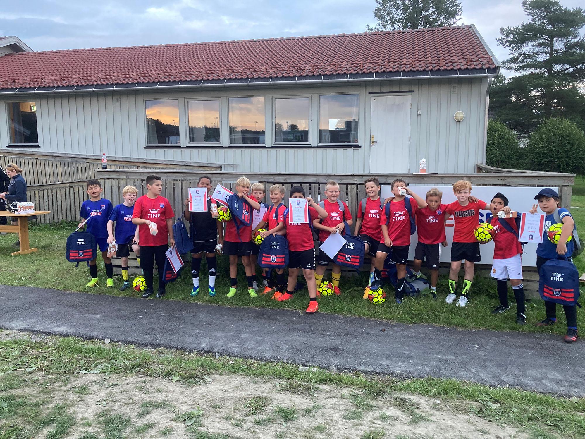 Årets «Tine fotballskole» ble en stor suksess!